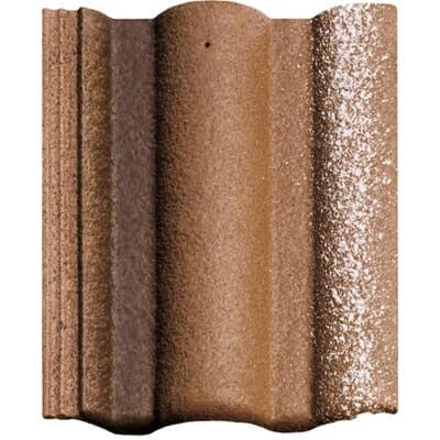 фото цементно песчаной черепицы ADRIA Braas цвет коричневый