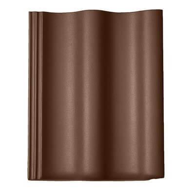 фото черепицы Харцер (Harzer) Braas цвет люмино коричневый