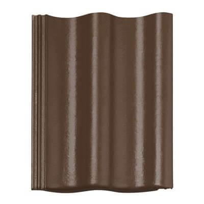 фото черепицы Харцер (Harzer) Braas цвет коричневый