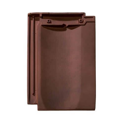 фото крыши из черепицы BRAAS цвет коричневый