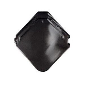 фото керамической черепицы Braas модель Изумруд цвет черный