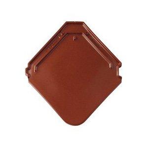 фото керамической черепицы Braas модель Изумруд цвет каштан
