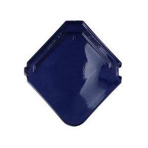 фото керамической черепицы Braas модель Изумруд цвет синий