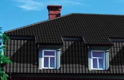 фото крыши с керамической черепицей Braas модель Топаз V